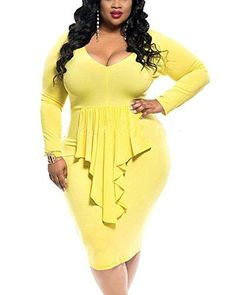 YOUBENGA Women s Plus Size Sexy Long Sleeve. Plus Size WomenPlus Size  Bodycon DressesBodycon Dress PartiesDress PartyPlus Size Club DressesFashion  ... 87f7ad5c2f0b