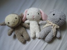 Pocket-size plushies  available here https://www.etsy.com/listing/176190839/little-lamb-plush?ref=shop_home_active_1