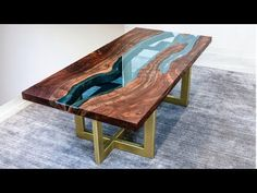 Live Edge River Table | Woodworking How-To - YouTube