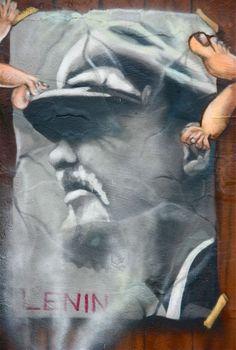 Uncle Vladimir was here. Fresh painting in wall of Berlin, Germany. Berlin Street, Urban Landscape, Berlin Germany, Street Photography, Fresh, Wall, Movie Posters, Painting, Paintings