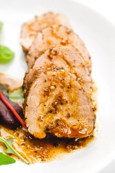Island style pork tenderloin, rubbed with spices, and cooked in a delicious sauce for a tropical vacation for your tastebuds. Oven Baked Pork Tenderloin, Pork Tenderloin Recipes, Pork Chops, Pork Roast, Pan Seared Pork Tenderloin, Pork Tenderloins, Oven Recipes, Pork Recipes, Cooking Recipes