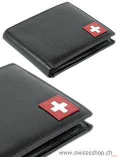 Swiss Cross 870-10 / Hiqh Quality Leather Portemonnaie With Swiss Flag. This portemonnaie has a good size for the trouser pocket.