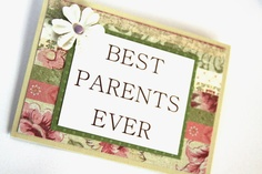 Handmade Card  Best Parents Ever Thank You by Summertimedesign, $3.50