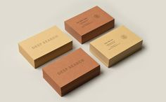 Logotype and business cards with uncoated and unbleached material detail created by Bielke+Yang for Norwegian shoe brand Deep Search