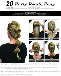 "How to apply ""easiXtend Pro"" or for a party ready pony! Paddle Brush, Advanced Hair, Jon Renau, Hair Toppers, Remy Human Hair, Synthetic Hair, Hair Pieces, Hair Loss, Ponytail"