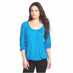 New Michael Kors Women's Peasant Shirt/Top Peacock Blue Size Small #MichaelKors #Peasant