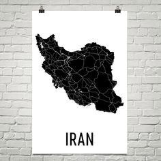 Iran Map, Iranian Art, Map of Iran, Iran Art, Iranian Decor, Iranian Gift, Iran Print, Iran Poster, Iran Wall Art, Iran Map Art, Iranian