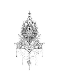 (CreativeWork) Lotus Mandala by Octavia Art. Dotwork Tattoo Mandala, Mandala Tattoo Design, Mandala Drawing, Mandala Art, Tattoo Designs, Animal Mandala Tattoo, Lotus Mandala Design, Mandala Tattoo Back, Tattoo Ideas