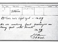 SOS: The wireless message sent by Titanic radio operator Jack Phillips to call for help