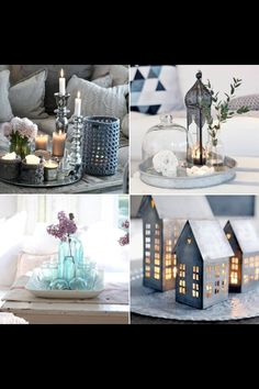 Add a cosy touch to your home with a tray of candles and flowers Living Room White, Home Living Room, Moon Decor, Deco Originale, Candle Lanterns, Candles, Tray Decor, Scandinavian Interior, Accent Decor