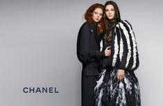 """Chanel Metiers d'Art 2016/2017 """"Paris Cosmopolite"""" Ad Campaign Photos.  Photographed by: Karl Lagerfeld.  Models: Vittoria Ceretti. Natalie Westling."""
