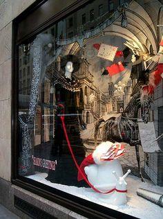 Bergdorf Goodman window: Seasons Greetings 3 (detail, snail mail), via Flickr.