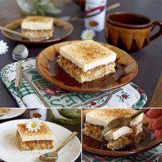 Zdravý jablečný kremšnit řez - recept Bajola Tiramisu, Ethnic Recipes, Sweet, Desserts, Food, Candy, Tailgate Desserts, Deserts, Essen