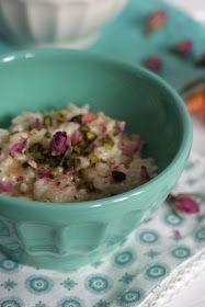 Pistachio: Pudding ryżowy z kardamonem, różą i pistacjami. Pyszny deser na czas zimy.