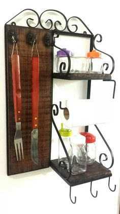 porta temperos p/ churrasqueira e cozinha, linda decoração !