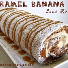 Caramel Banana Cake Roll - Looks like a roll lot of fun! Ha! Ha! Get it!? Roll. Whole. Roll lot of fun! ... SHUT UP!!!