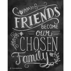 Friendship Print - Friendship Gift - Friend Quote 11x14 Print - Hand Lettered Print - Gift for Best Friend - Chalkboard Art - Chalk Art ($29) found on Polyvore