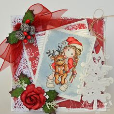 Tilda with Little Rudolph from Magnolia stamps