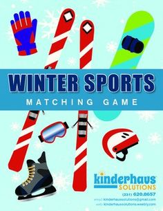 Winter Sports Matching Game is perfect for emphasizing the Winter Sports theme, or Winter Olympics. Cards can also be used on your Word Wall.