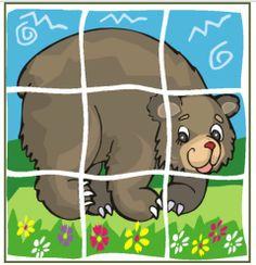 * Puzzel: Beer! Bear Theme Preschool, Preschool Classroom, Preschool Crafts, Preschool Activities, Crafts For Kids, College Crafts, File Folder Activities, Animal Puzzle, Printable Puzzles