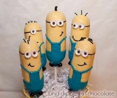 DIY Twinkie Minions. Despicable Me Party Planning