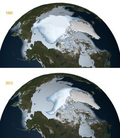 Are we cooling? | Icelights:  Multiyear ice, or ice that has made it through at least two summers, has diminished over the last three decades. The extent of multiyear ice, which includes all areas of the Arctic Ocean where multiyear ice covers at least 15 percent of the ocean surface, is diminishing by about 15 percent per decade. Photo credit: NASA/Goddard Space Flight Center Scientific Visualization Studio