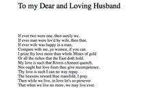 a letter to her husband anne bradstreet A letter to her husband, absent upon public employment anne bradstreet audiobook short poetry anne bradstreet a letter to.