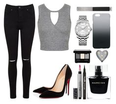 """""""This Outfit doe *_*"""" by sad11 ❤ liked on Polyvore featuring moda, Miss Selfridge, Crystal Art, C6, Margaret Dabbs, Calvin Klein, Narciso Rodriguez, Maybelline, Victoria's Secret e Christian Louboutin"""
