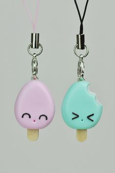 Two Creamsicles Cell Phone Straps (cost $)