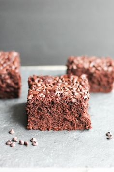 If you are a Sneaky Chef type, hiding veggies in everything from pancakes to burgers, then this recipe for skinny zucchini brownies is perfect for you! from Bakebellissima.com