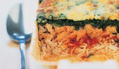 Recette Gratin de riz au saumon, tomates, épinards - recettes Les plats - Picard