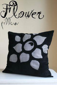 Reverse Applique Flower Pillow