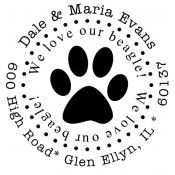 Personalized Stamp STA-091 Paw - More Than Mugs: Pets bring so much joy to our lives. At More Than Mugs, we offer personalized gifts for both pets and pet lovers.