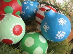 Paper Mache Christmas Ornaments from the Blue Cricket - Trendy Tree Blog