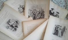 Antique pages from a volume of Shakespeare for crafting, journaling or scrapbooking. The Lonely Book Junkie
