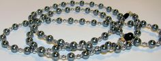 Silver Glass Pearl Beaded Lanyard Eyeglass Chain by nonie615, $11.00