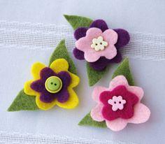 Imanes con flores de fieltro en 5 pasos ~ Portal de Manualidades