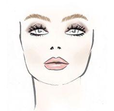 Boceto de maquillaje de Marissa Web para el Mercedes Benz Fashion Week. #MBFW 2013