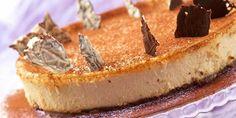 Ostekake med kaffelikør - En deilig ostekake som smelter i munnen.