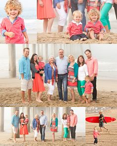 Beachy photoshoot - color scheme summer family pictures, family pictures what to wear, large