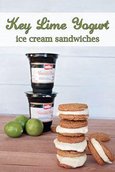 Key Lime Yogurt Ice Cream Sandwiches #MullerMoment #ad