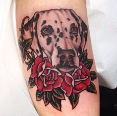 portrait tattoo on leg ; Funny Tattoos, Dog Tattoos, Animal Tattoos, Girl Tattoos, Sleeve Tattoos, Tatoos, Dog Portrait Tattoo, Men Portrait, Tattoo On