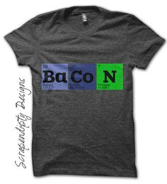 Iron on Bacon Shirt PDF - Geek Iron on Transfer / Baby Hipster Clothes / Funny Nerd Tshirt / Unique Mens Shirt / Kid Toddler Clothes IT130-C on Etsy, $2.75 AUD