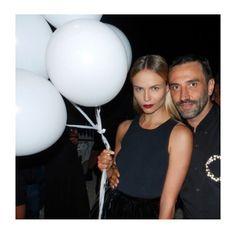Riccardo Tisci's birthday in Ibiza. Natasha Poly and Riccardo Tisci. Natasha Poly, Toni Garrn, Anja Rubik, Quebec, Uk Fashion, Fashion Models, Ibiza, Hilary Rhoda, Beats By Dre
