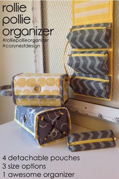 The Rollie Pollie Organizer - PDF Sewing Pattern from Cozy Nest Designs