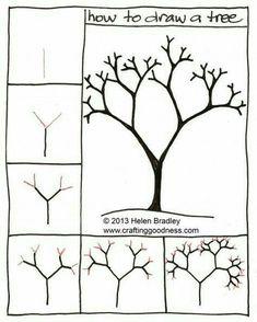 Winter automn tree