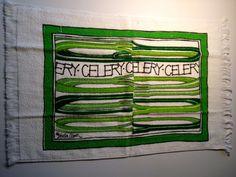 Vintage Stella Olsen Kitchen Towel / New Never by ElkHugsVintage, $6.00