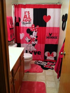 1000 Images About Minnie Mouse Bathroom On Pinterest