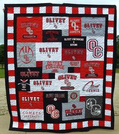 Olivet College T-shirt Quilt, Olivet Michigan