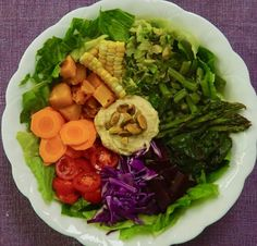 Rainbow Harvest Salad Roasted Beets, Roasted Butternut Squash, Raw Pistachios, Whole Food Recipes, Healthy Recipes, Harvest Salad, Steamed Green Beans, Shredded Brussel Sprouts
